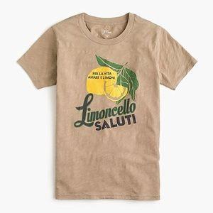 NWT J. Crew Limoncello T-shirt in vintage cotton
